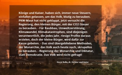 CO2-Steuer. - Horst Bulla