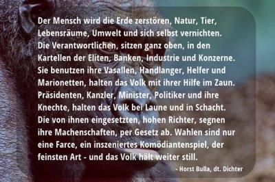Der Mensch wird die Erde zerstören. - Horst Bulla